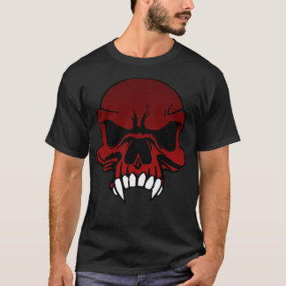 Red Skull with Fangs T-Shirt