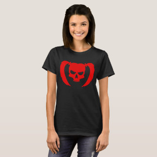 Red Skull with Pigtails T-Shirt