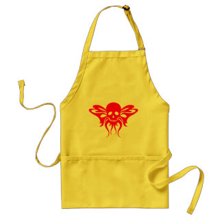 Red Skullfly Adult Apron