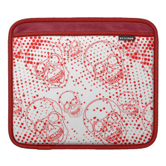 Red skulls with bloody splashes sleeve for iPads