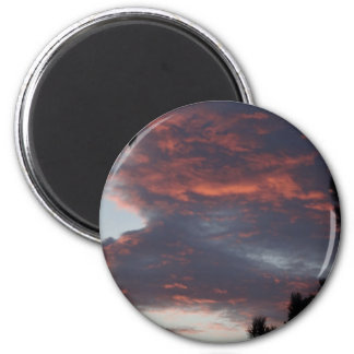 red sky at night 2 inch round magnet