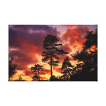 Red sky at night canvas prints