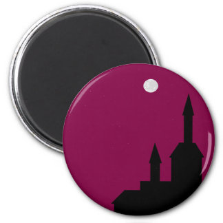 Red sky at Night Line 2 Inch Round Magnet