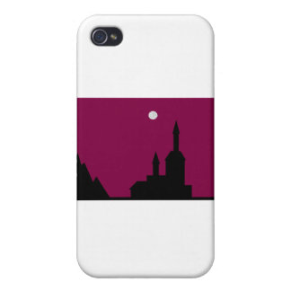 Red sky at Night Line Case For iPhone 4