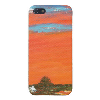 Red Sky At Night Painting iPhone 4 Universal Cover