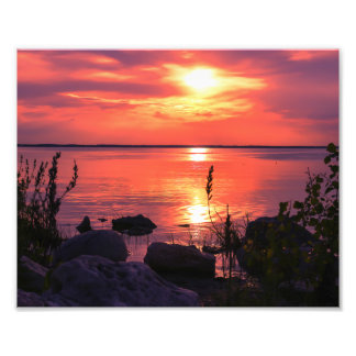 Red Sky at Night Saliors Delight - Sunset Art Photo