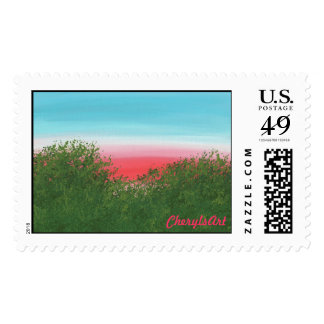 Red Sky at Night, Sunset Postage Stamps