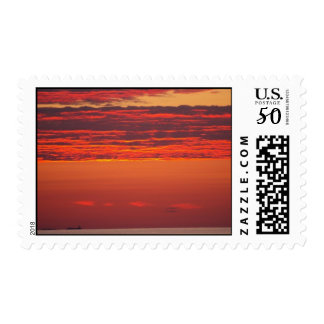 Red Sky in Morning Postage Stamp