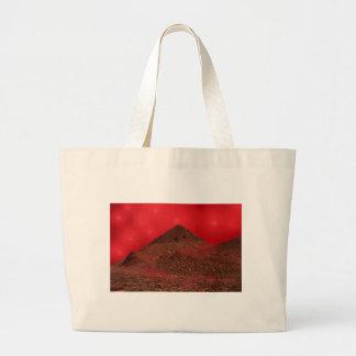 Red Sky Lights Large Tote Bag