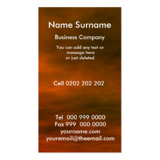 Red sky, Name Surname, Business Card Business Card