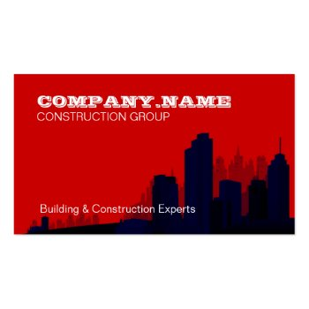 Red Skyline Construction Business Card