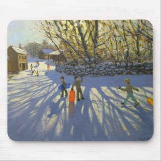 Red sledge Monyash Derbyshire Mouse Pad
