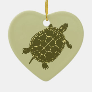 Red Slider Turtle Ceramic Ornament