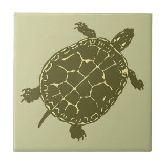 Red Slider Turtle Tile