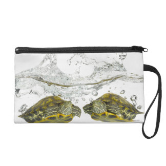Red slider turtles wristlet purse