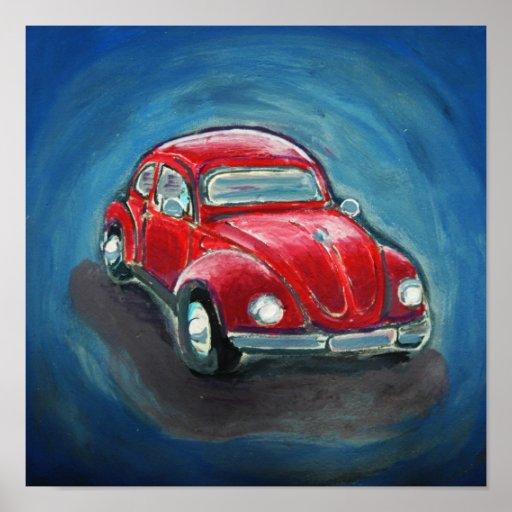 Red Slug Bug Poster