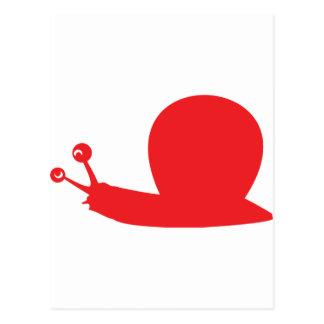 red slug icon postcard