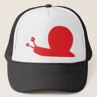 red slug icon trucker hat