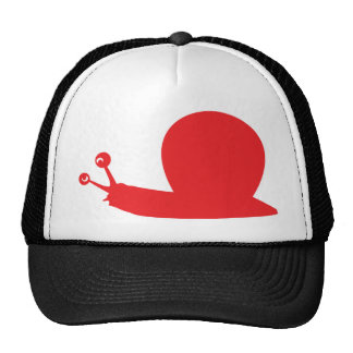 red slug icon trucker hat