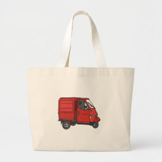 Red small transporter large tote bag