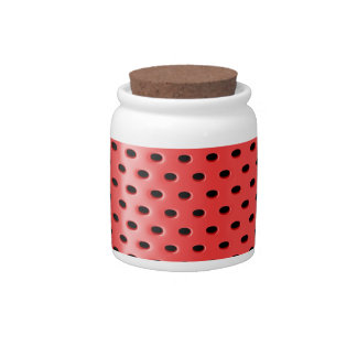 Red smart speaker candy dish