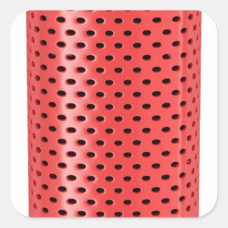 Red smart speaker square sticker