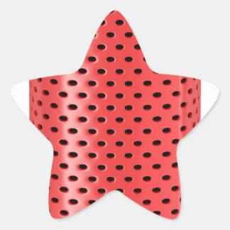Red smart speaker star sticker