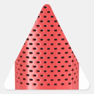 Red smart speaker triangle sticker
