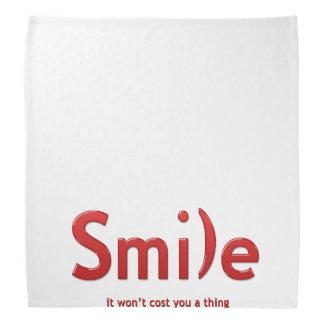 Red  Smile Ascii Text Bandana