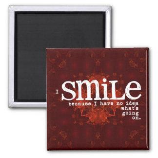 Red Smile Fridge Magnet