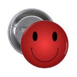 Red Smiley 2 Inch Round Button