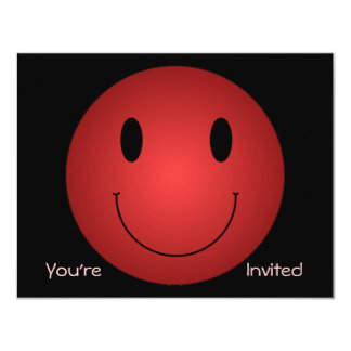 Red Smiley Card