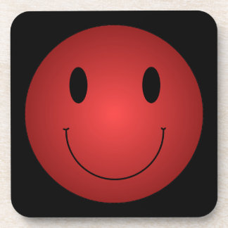 Red Smiley Coaster