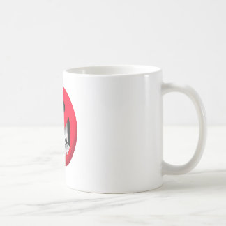 red smiley face coffee mug