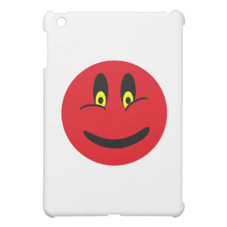 Red Smiley Face iPad Mini Cover