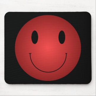 Red Smiley Mouse Pad