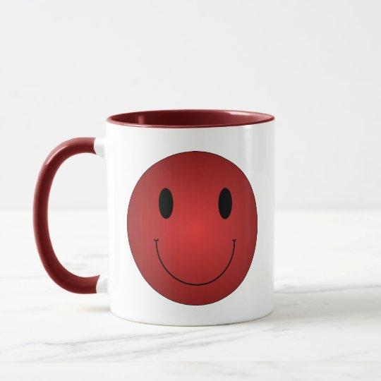 Red Smiley Mug