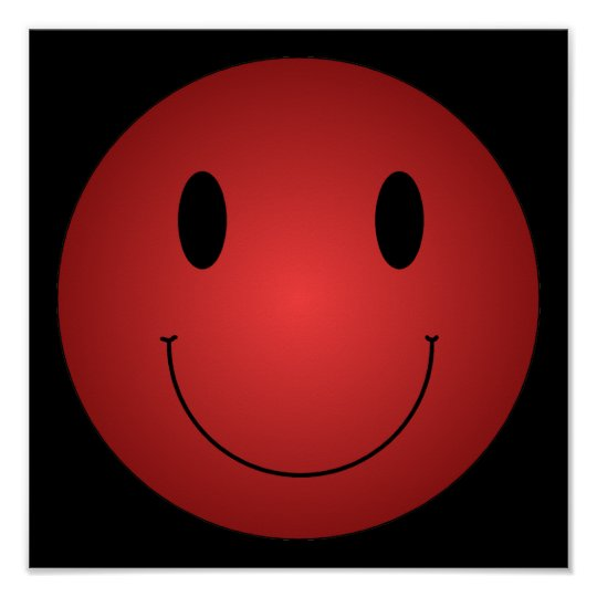 Red Smiley Poster