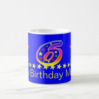 Red Smiley Star 6th Birthday Mug
