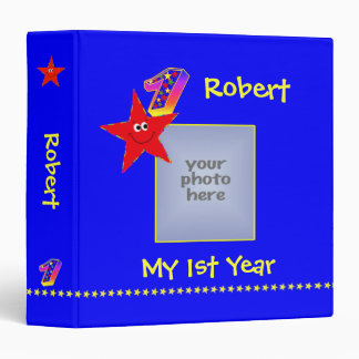 Red Smiley Stars 1st Year Memories Album Binder