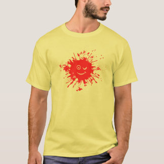 Red Smilie Face Splatter Shirt