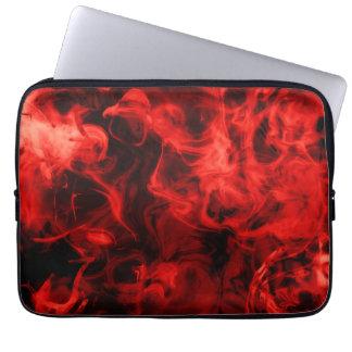 Red smoke computer sleeve