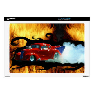 Red Smoking Doorslammer Drag-racing Car Laptop Decal