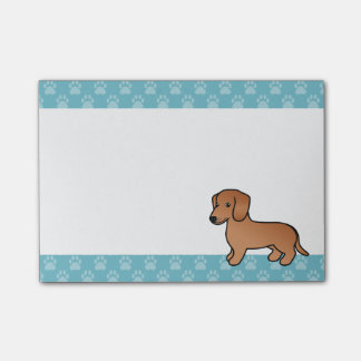 Red Smooth Coat Dachshund Post-it® Notes