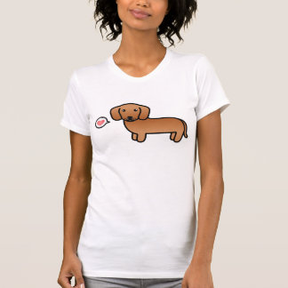Red Smooth Coat Dachshund With A Heart T-Shirt