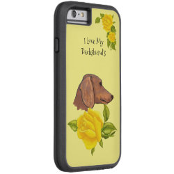 Case-Mate Barely There iPhone 6 Case with Dachshund Phone Cases design