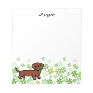 Red Smooth Dachshund 2 Notepad