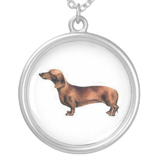 Red Smooth Dachshund Necklace