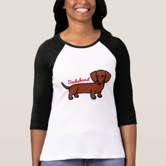 Red Smooth Haired Dachshund 2 Tshirts