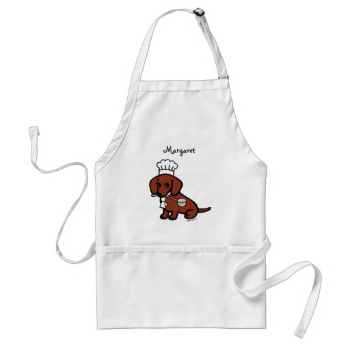 Red Smooth Haired Dachshund Chef Adult Apron